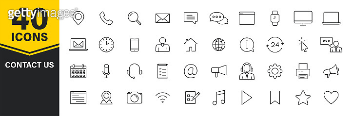 Set of 40 icons