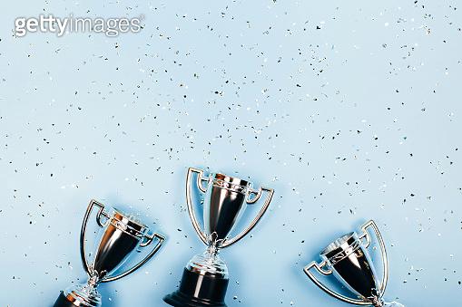 Frame made of winner cups