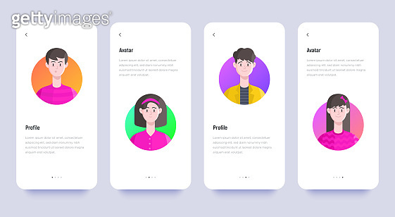 Mobile ui with avatars