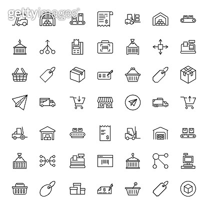 Black outline icons