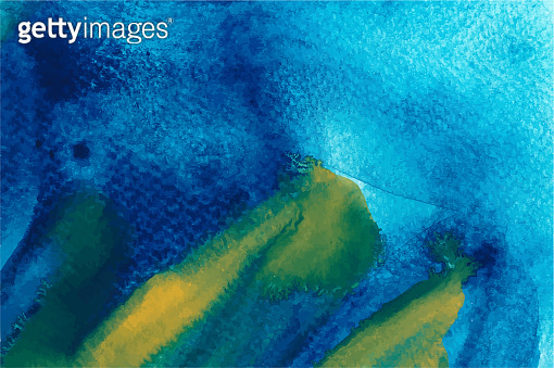 Blue and yellow splash watercolor texture