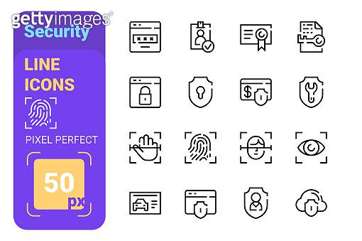 Pixel perfect line icons