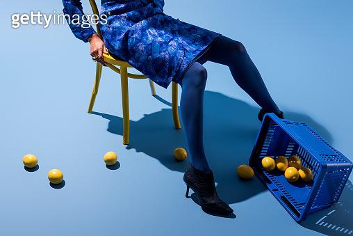 Classic blue concept woman