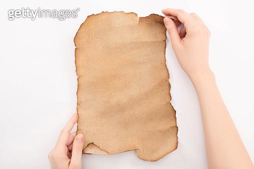 Vintage rolled aged paper