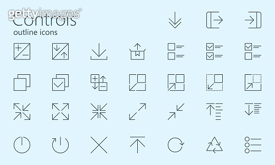 outline icons set