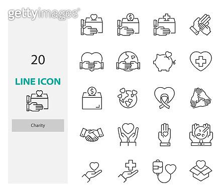 20 line icon set
