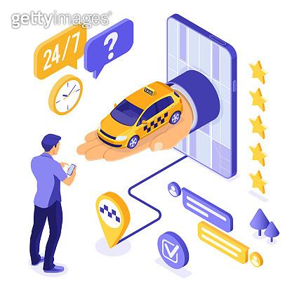 Online service illustration