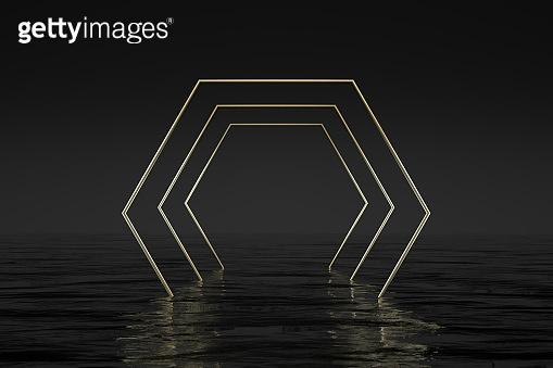 3D 기하학적 배경