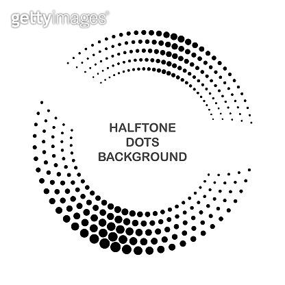 Halftone dots background