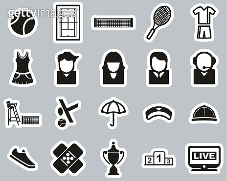 Black & White Sticker icon