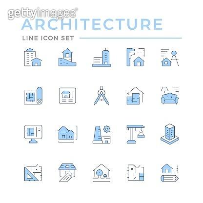 Set color line icons