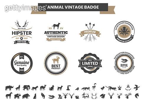 Animal Vintage Vector for banner