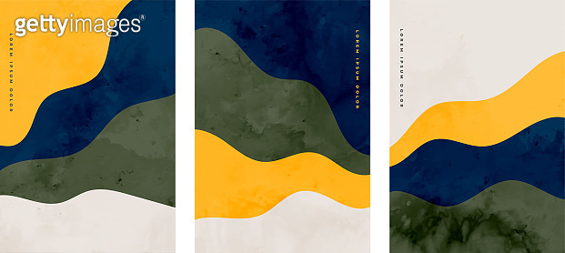 Abstract flyers set