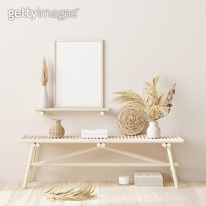 Mock up frame in home interior