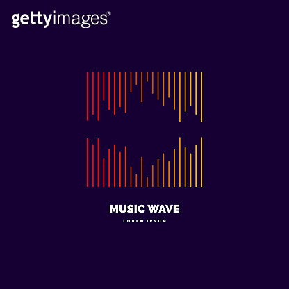 Music wave in the form of the equalizer