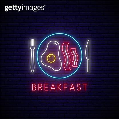 food neon icon set