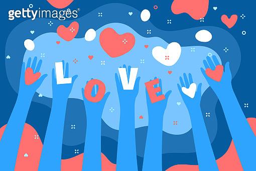 Concept of love illustration