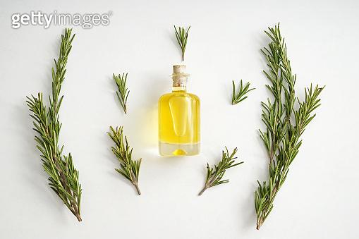 Bottle of rosemary oil
