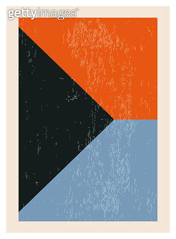 기하학적 디자인 포스터