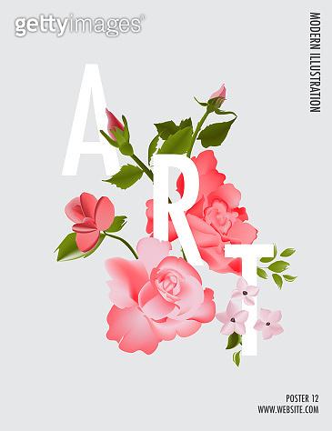 Flower bloom poster