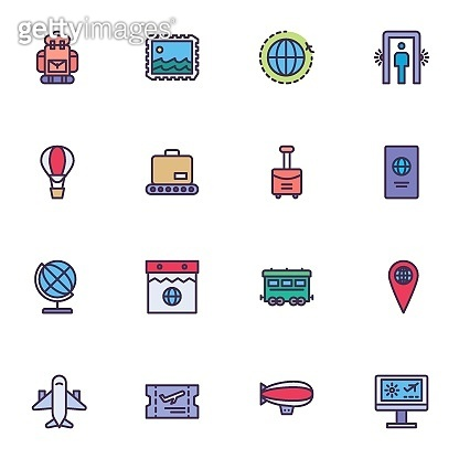 Linear colorful pictogram