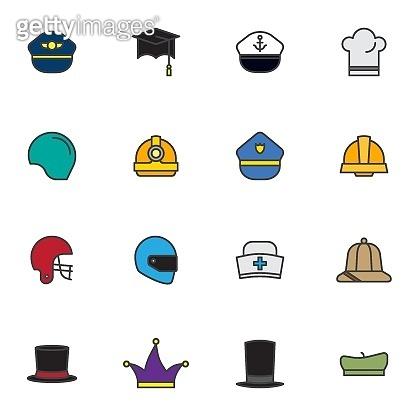 직업별 모자 아이콘