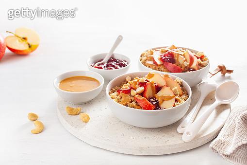 Apple peanut butter quinoa bowl