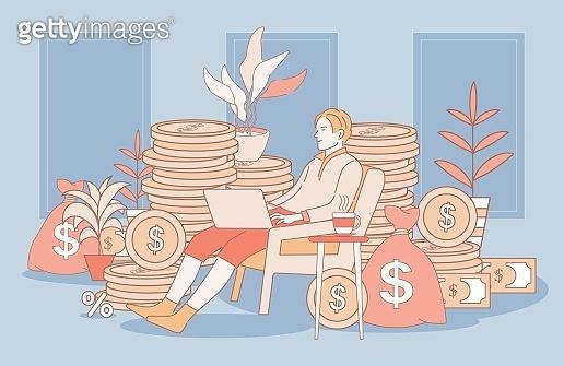 경제 관련 일러스트