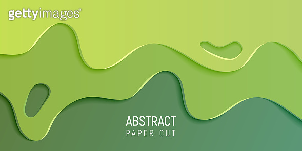 Abstract paper cut