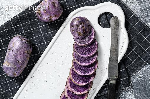 Vitelotte raw potato