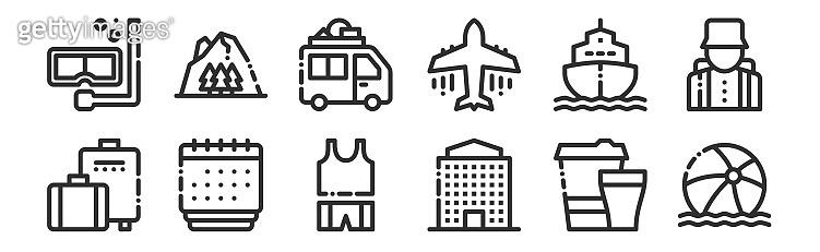 여행,캠핑,휴가 아이콘