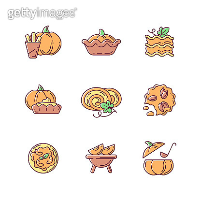 가을 음식 아이콘