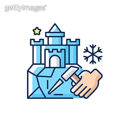 겨울 관련 아이콘
