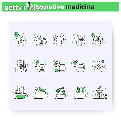 Alternative medicine icons