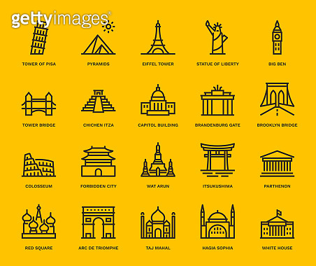 Yellow background icons