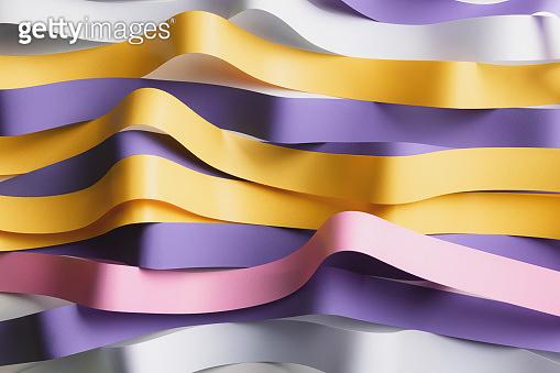 Wavy colorful ribbons