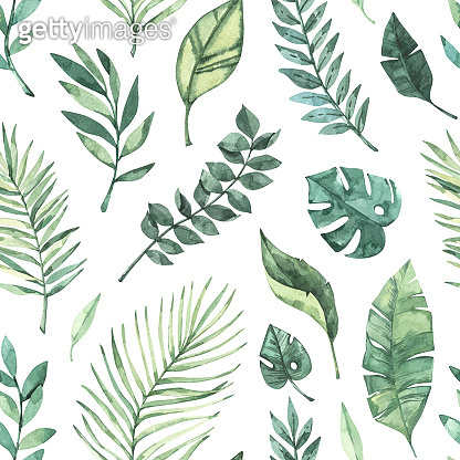 Botanical background with green branches