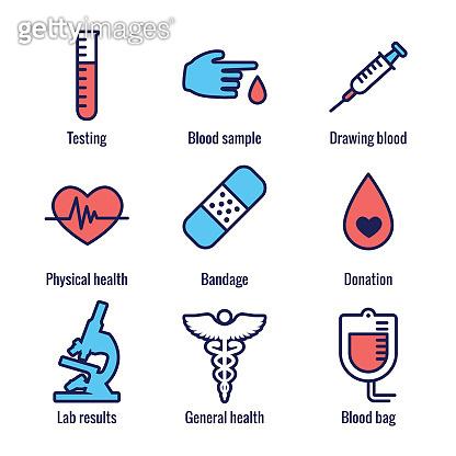 Blood testing icon