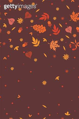 가을 낙엽 일러스트