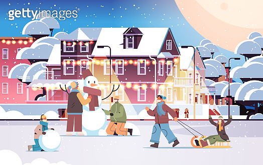 Happy winter illustration