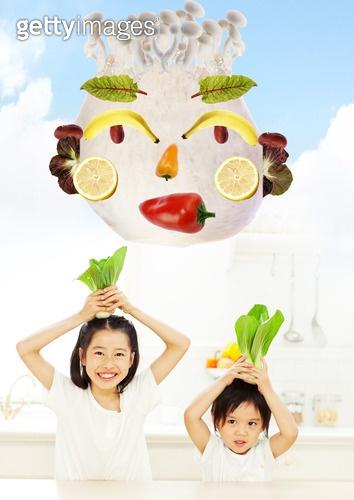 건강한 채소와 과일