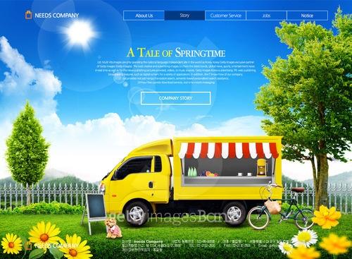 봄풍경 웹템플릿