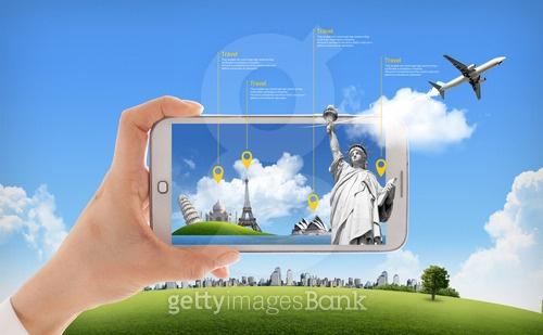 손과 스마트폰