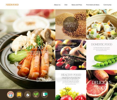 Web Template _ Korean Food