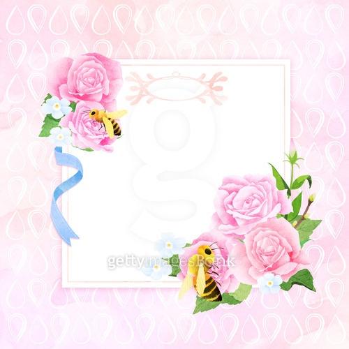 꽃과 라벨, 프레임