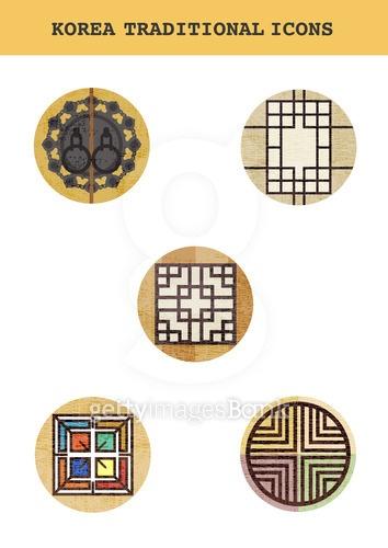 Korea Traditional Icons
