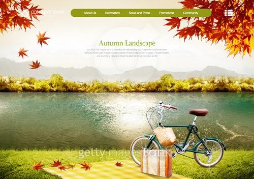 가을풍경 웹템플릿