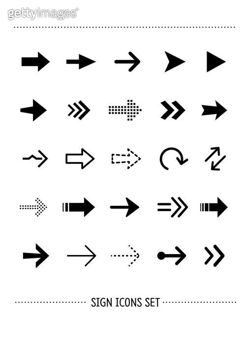 Sign icons set