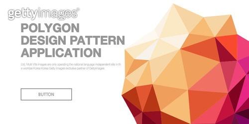 폴리곤 패턴 배너