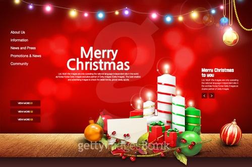 즐거운 크리스마스 웹템플릿